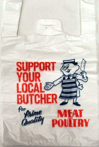 Carriers Printed Butchers Design  11x17x21 14micron