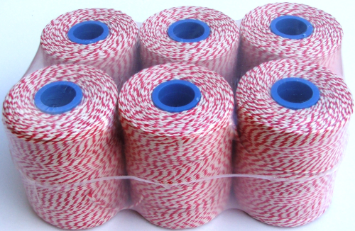 Butchers Rayon Twine Red/White