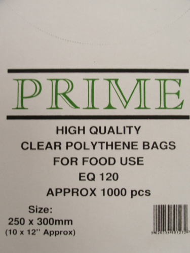 Clear Poly Bags 250mmx300mm 120 Gauge