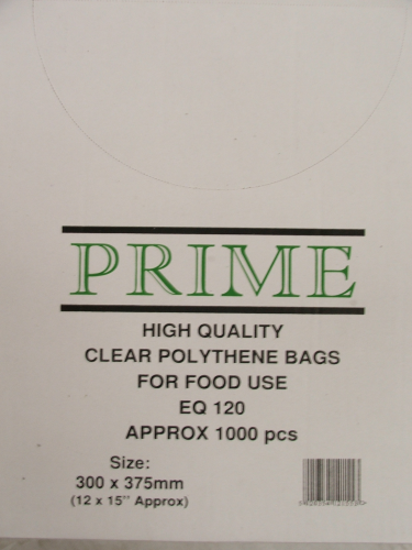 Clear Poly Bags 300mmx375mm 120 Gauge