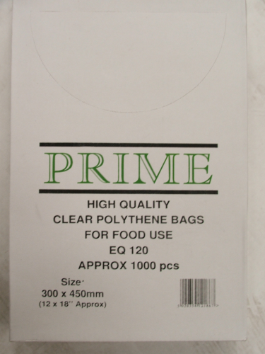 Clear Poly Bags 300mmx450mm 120 Gauge
