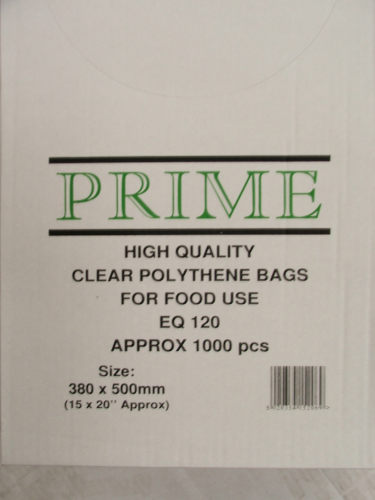 Clear Poly Bags 380mmx500mm 120 Gauge