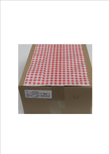 Duplex Red Gingham Counter Sheets