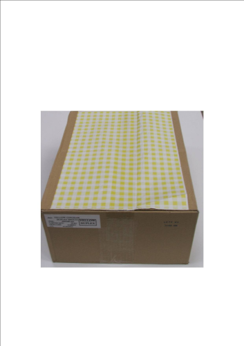 Duplex Yellow Gingham Counter Sheets