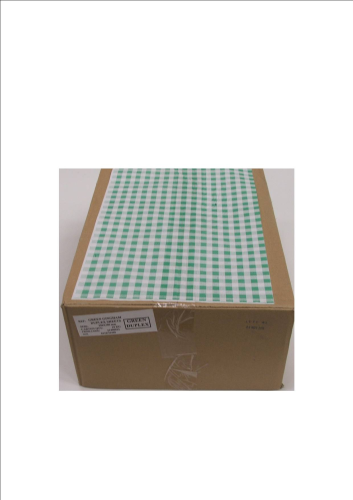 Duplex Green Gingham Counter Sheets