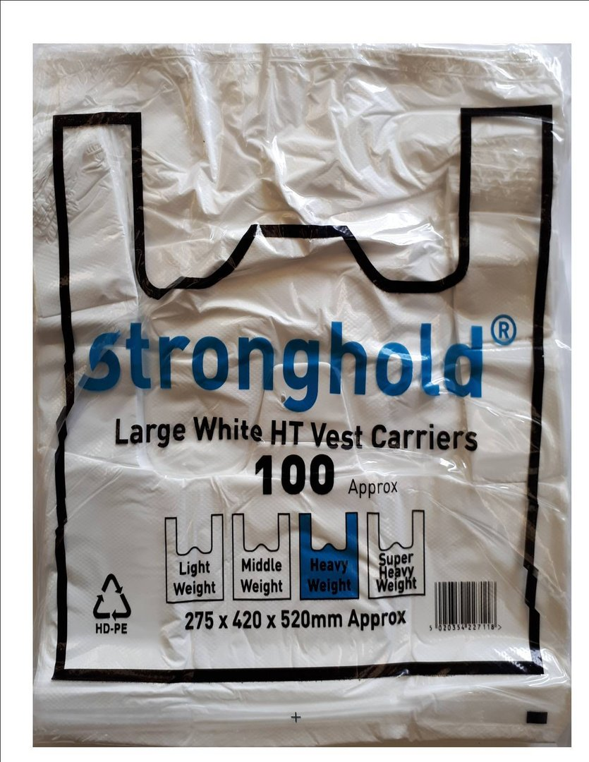 Stronghold Carriers White 11x17x21 17micron (1000)