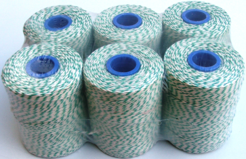 Butchers Rayon Twine Green/White
