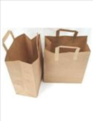 SOS Brown Paper Carrier Bags