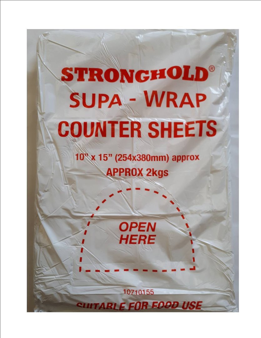H.D. Counter Sheets Stronghold 10x15 25micron 5.68 per Pack